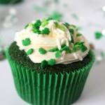 St. Patrick's Day Green Velvet Cupcakes