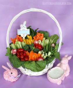 Easter Basket Relish Tray