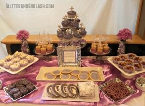 Purple & Silver Dessert/Snack Table Ideas