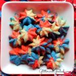 Patriotic Fireworks Spritz Cookies