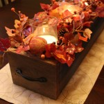 Autumn Barn Wood Centerpiece