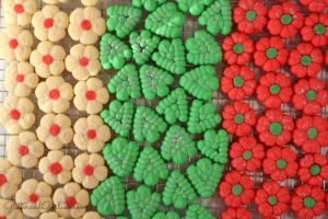Festive Christmas Spritz Cookies Glitter And Goulash