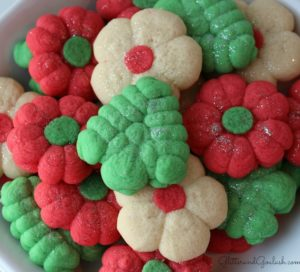 Festive Christmas Spritz Cookies