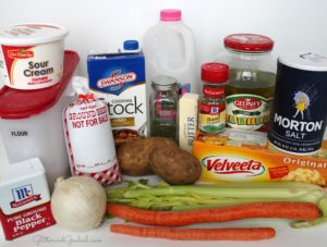 Cheeseburger-Soup-ingredients