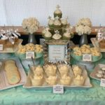 Teal, White & Silver Dessert Table for Baptism