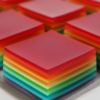 Rainbow Jello Jigglers